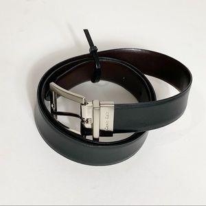 Calvin Klein Leather Reversible Black Brown Belt